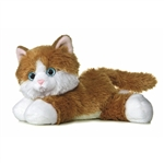 Sunshine the Stuffed Orange Tabby Cat by Aurora
