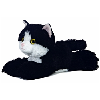 Maynard The Stuffed Black And White Cat by Aurora