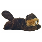 Builder the Stuffed Beaver Mini Flopsie by Aurora