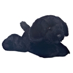 Blackie the Stuffed Black Lab Plush Mini Flopsie Dog By Aurora