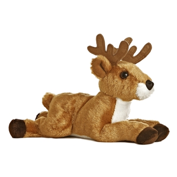 Chuck the Stuffed Buck Plush Mini Flopsie Deer By Aurora