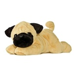 Pug-ger The Plush Pug 12 Inch Flopsie Stuffed Dog By Aurora