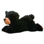 Sullivan The Plush Black Bear 12 Inch Stuffed Flopsie By Aurora