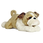 Willis the Stuffed Bulldog Flopsie Plush Dog by Aurora