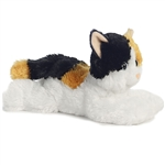 Esmeralda the Stuffed Calico Cat Flopsie by Aurora
