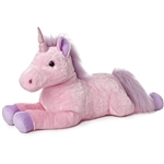 Celestia the Jumbo Stuffed Pink Unicorn Super Flopsie by Aurora