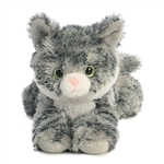 Little Lily the Stuffed Gray Tabby Cat Mini Flopsie by Aurora