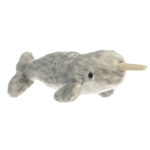 Little Torpedo the Stuffed Narwhal Mini Flopsie by Aurora