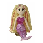 Marinna the Small Pink Mermaid Stuffed Animal by Aurora