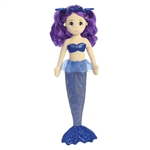 Pearl the Plush Mermaid with Purple Doll Hair by Aurora
