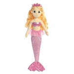 Topaz the Plush Mermaid with Orange Doll Hair by Aurora