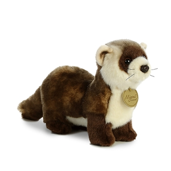 Realistic Stuffed Black-Footed Ferret 9 Inch Miyoni Plush by Aurora