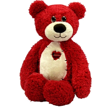 Tender the Red Teddy Bear with Patchwork Heart by First and Main