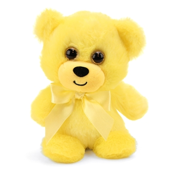 Yellow Teddy Bear 6 Inch Rainbow Brights Bear by First and Main