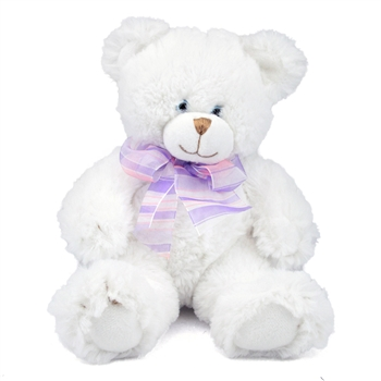 Small Dena the Soft White Teddy Bear by First and Main