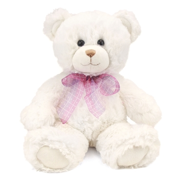 Dena the Soft White Teddy Bear by First and Main