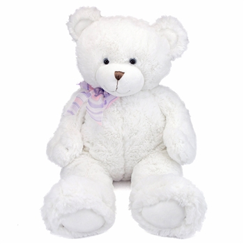 Big Dena the Soft White Teddy Bear by First and Main