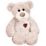 Tender the White Teddy Bear with Patchwork Heart by First and Main