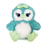Olivia the Sparkly Teal Blue Stuffed Owl Gal Pal by First and Main