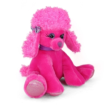 Polly the Sparkly Pink Stuffed Poodle Gal Pal by First and Main