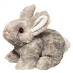 Tyler the Little Plush Gray Bunny by Douglas