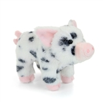 Leroy the Little Plush White Pig with Black Spots by Douglas