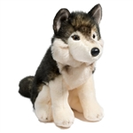 Atka the Sitting Plush Wolf by Douglas