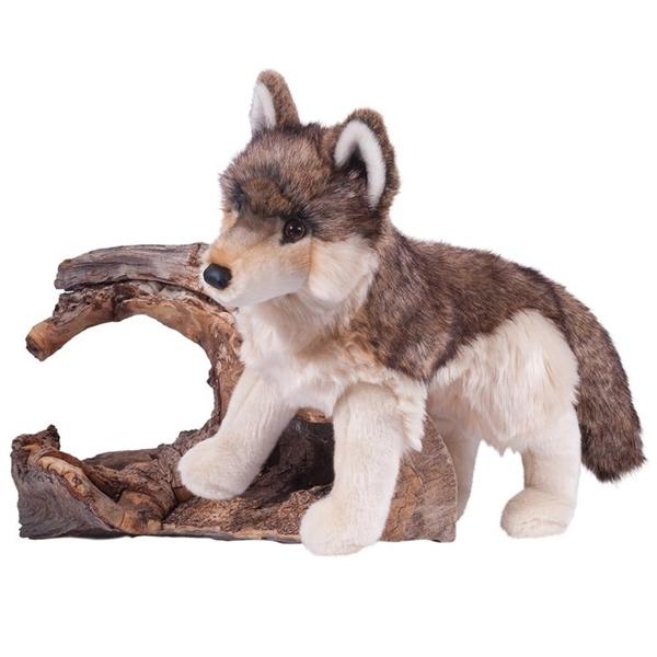 smoke the large plush wolf by douglas at stuffed safari. Black Bedroom Furniture Sets. Home Design Ideas