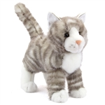 Zipper the Plush Gray Tabby Cat by Douglas