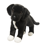 Twister the Plush Black Lab & Pit Bull Mix Rescue Pup by Douglas