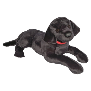 Dickens the Jumbo Stuffed Black Lab by Douglas
