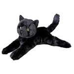 Tug the 14 Inch Plush Black Cat by Douglas
