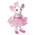 Petunia the Ballerina Mouse Stuffed Animal by Douglas