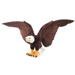 Plush Bald Eagle with Movable Wings 48 Inch Jumbo Stuffed Eagle by Fiesta