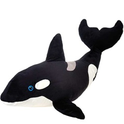 Jumbo Stuffed Orca 40 Inch Plush Killer Whale by Fiesta