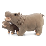 Standing Stuffed Hippo with Baby by Fiesta