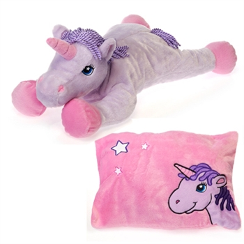Stuffed Unicorn Peek A Boo Plush Reversible Pillow By Fiesta