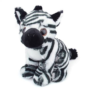 Zeus the Big Eyes Zebra Stuffed Animal by Fiesta