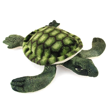 Realistic Stuffed Sea Turtle 14 Inch Plush Reptile by Fiesta
