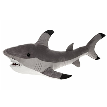 Large Stuffed Shark 32 Inch Plush Animal by Fiesta