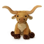 Stuffed Longhorn Bull 9 Inch Lil' Buddies by Fiesta