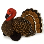 Stuffed Brown Turkey 9 Inch Plush Animal by Fiesta