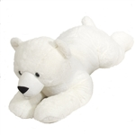 Jumbo Lying Stuffed Polar Bear Plush Animal by Fiesta