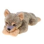 Lying Timber Wolf Stuffed Animal by Fiesta