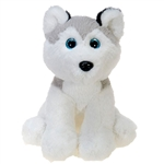 Sitting Husky Plush Animal by Fiesta