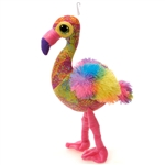 Scribbleez Colorful Flamingo Stuffed Animal by Fiesta