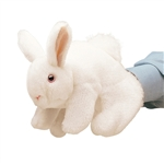 Full Body White Rabbit Puppet by Folkmanis Puppets