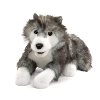 Timber Wolf Full Body Puppet by Folkmanis Puppets