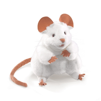 White Mouse Full Body Puppet by Folkmanis Puppets