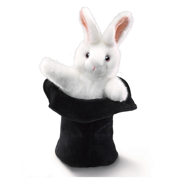 Rabbit in a Hat Stage Puppet by Folkmanis Puppets